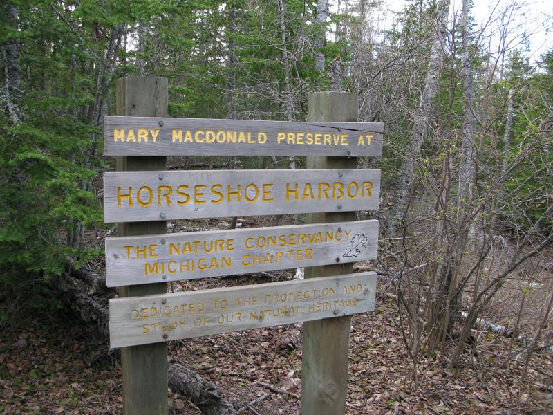 Large sign just past the trailhead
