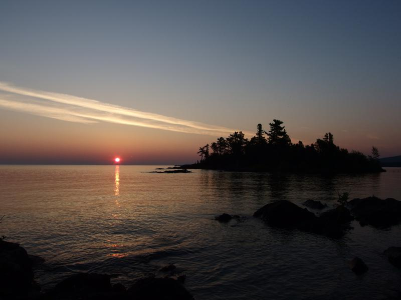 The waking sun over Lake Superior