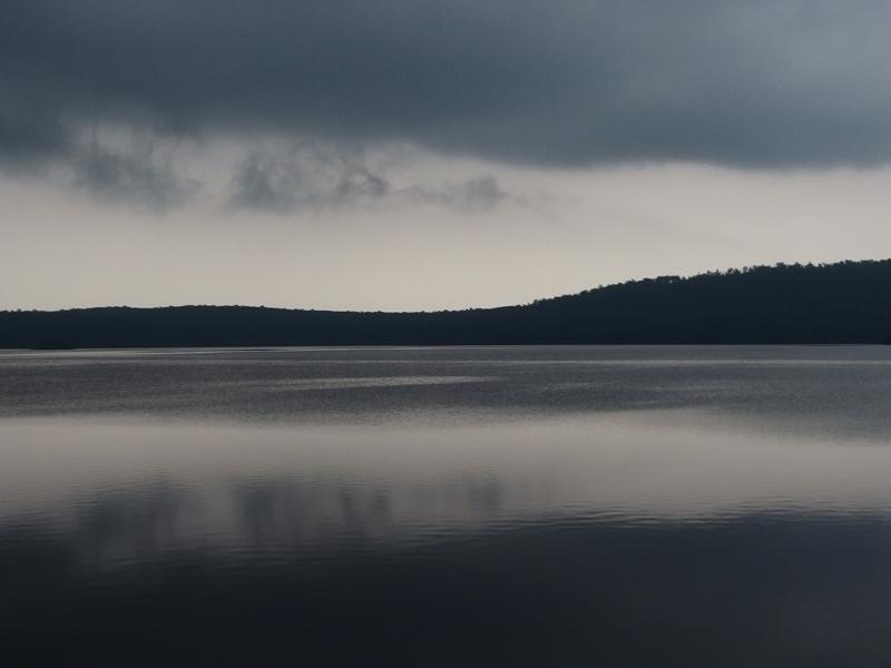Dark clouds hanging over Lake Desor