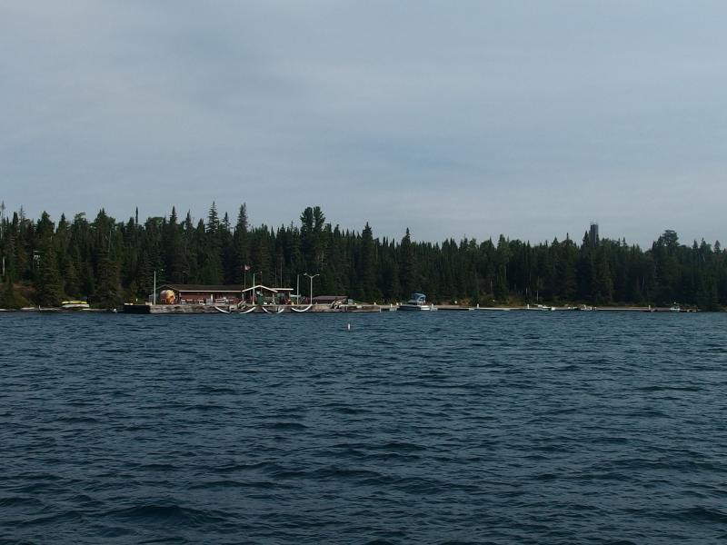 Little dock and ranger station ahead