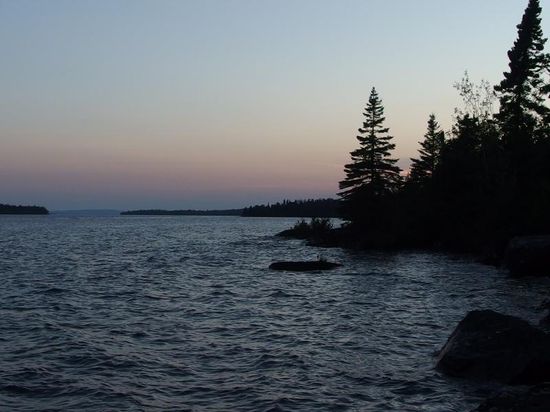 Twilight over a Superior shoreline