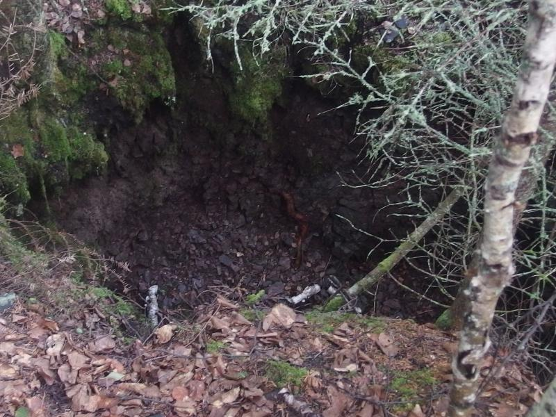 Old mining pit from Haytown Mine