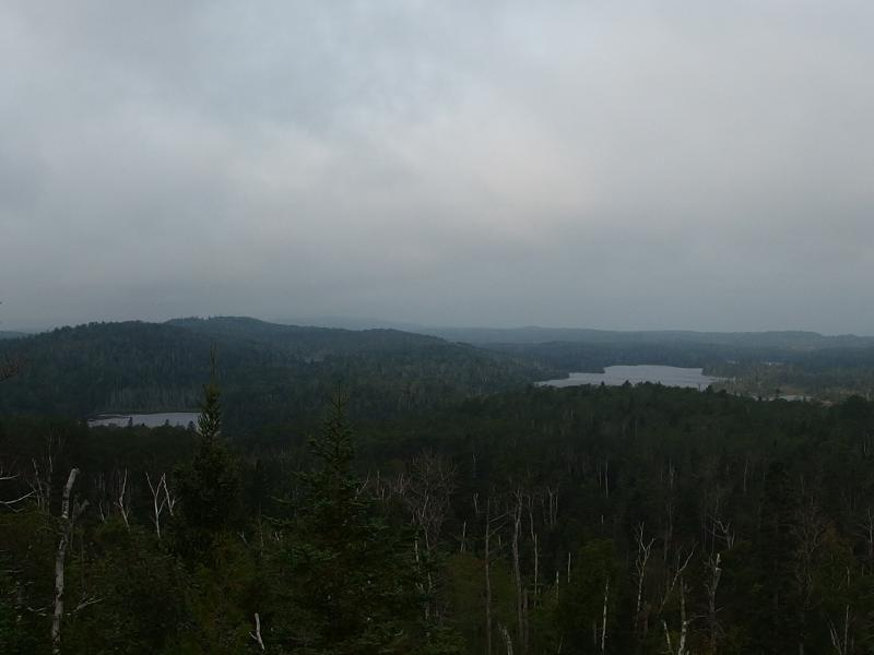 Lakes, hills, and clouds on Isle Royale