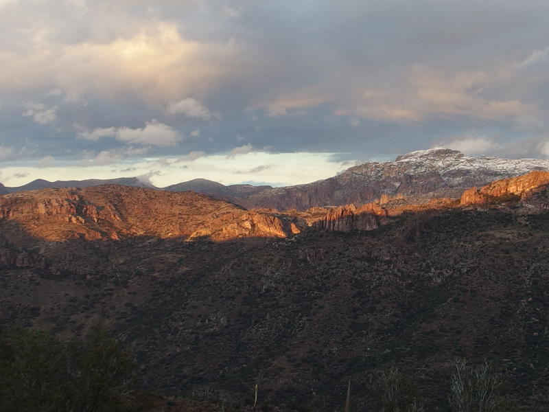 Dying sunlight across Goat Canyon