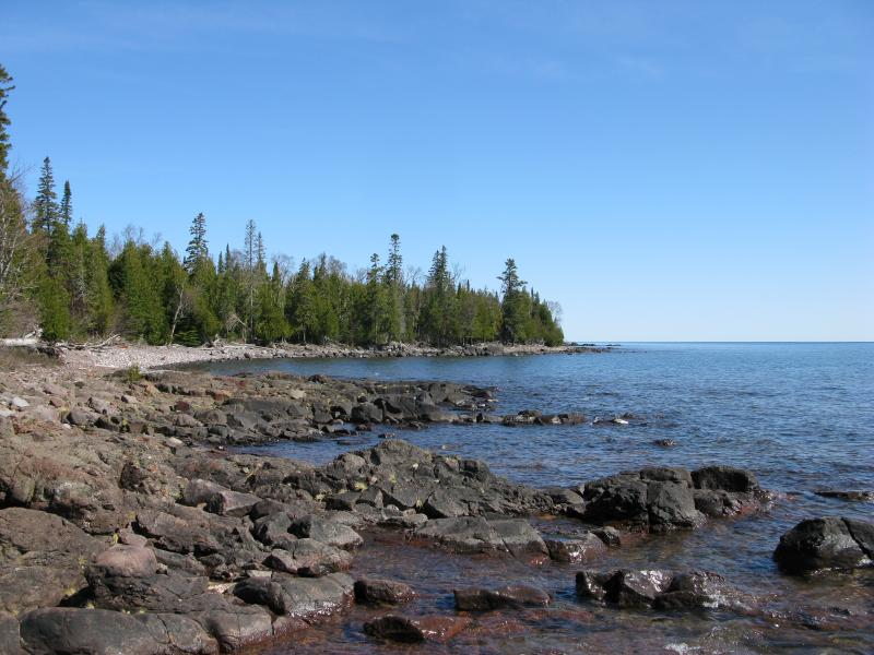 On the far side of Keweenaw Point