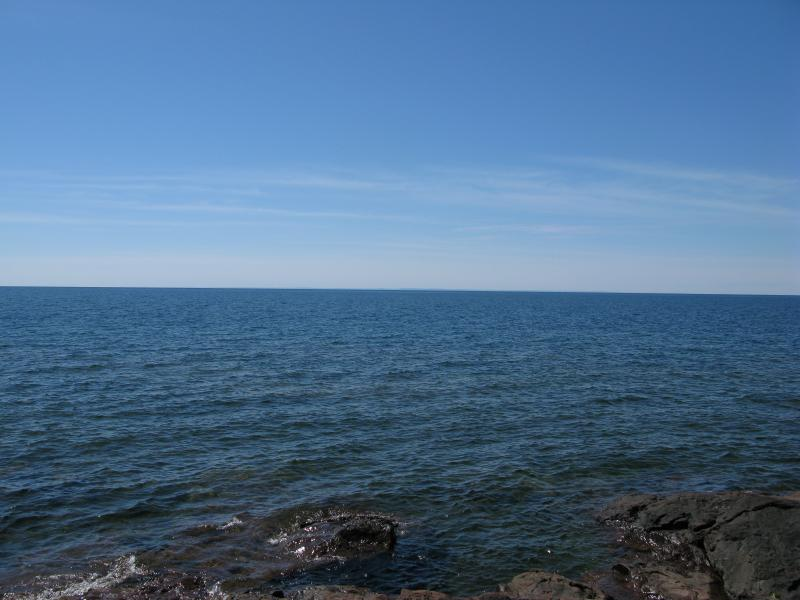 Blue waters of Keweenaw Bay