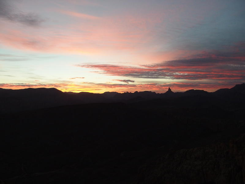 A brilliant sunrise over the Superstitions
