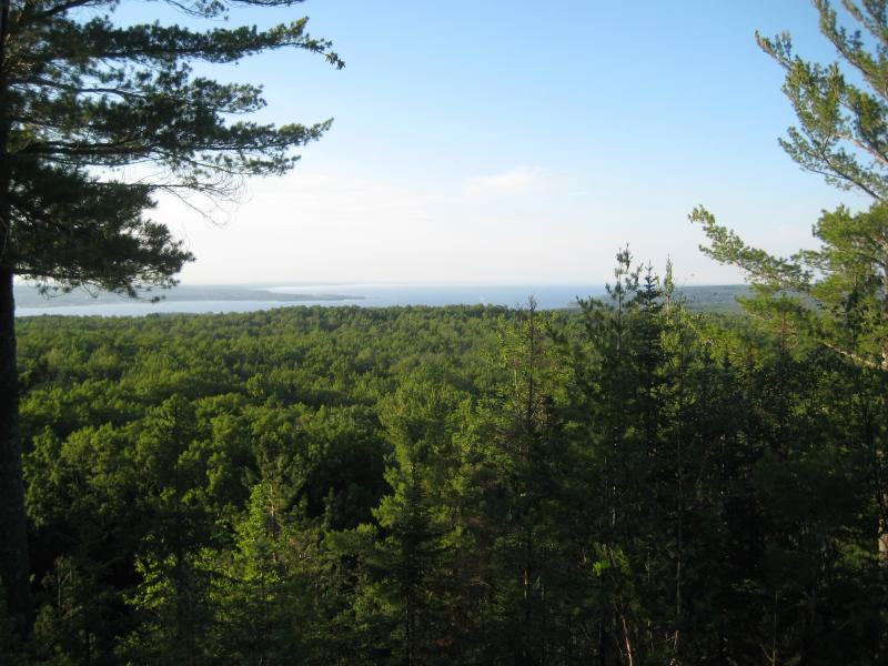 Keweenaw Bay opening up to the north