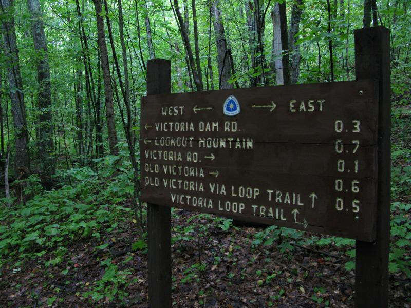 Sign on the North Country Trail