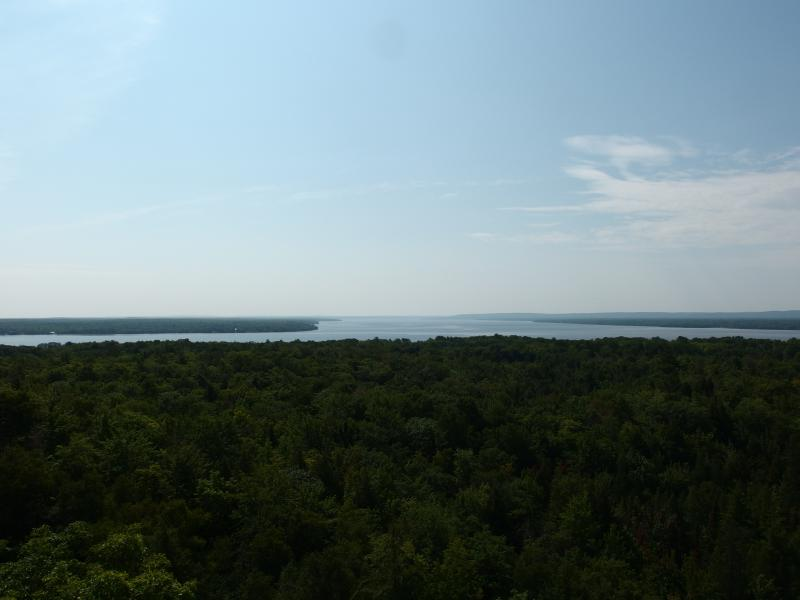 First view of Lake Gogebic