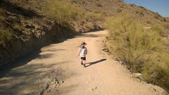 Noah trudging up National Trail