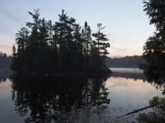 Morning light over White Deer Lake