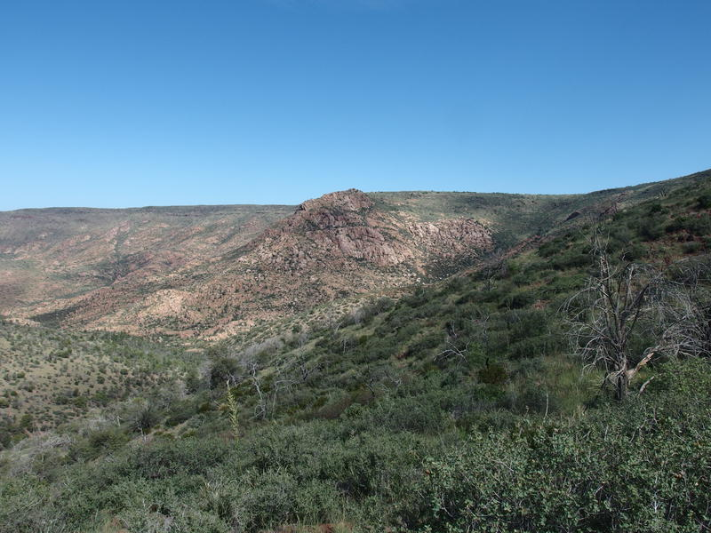 Granite Basin, a rocky outcropping next to the mesa
