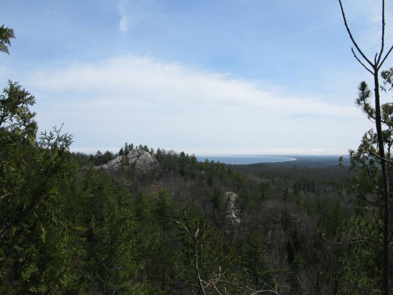 Great view of the bald spur and Superior
