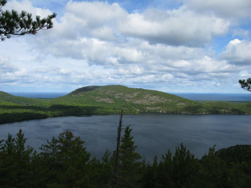 Huron Mountain, Lake Superior in background