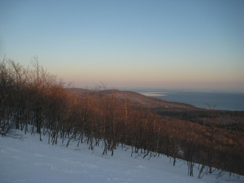 Looking east along the Keweenaw shoreline