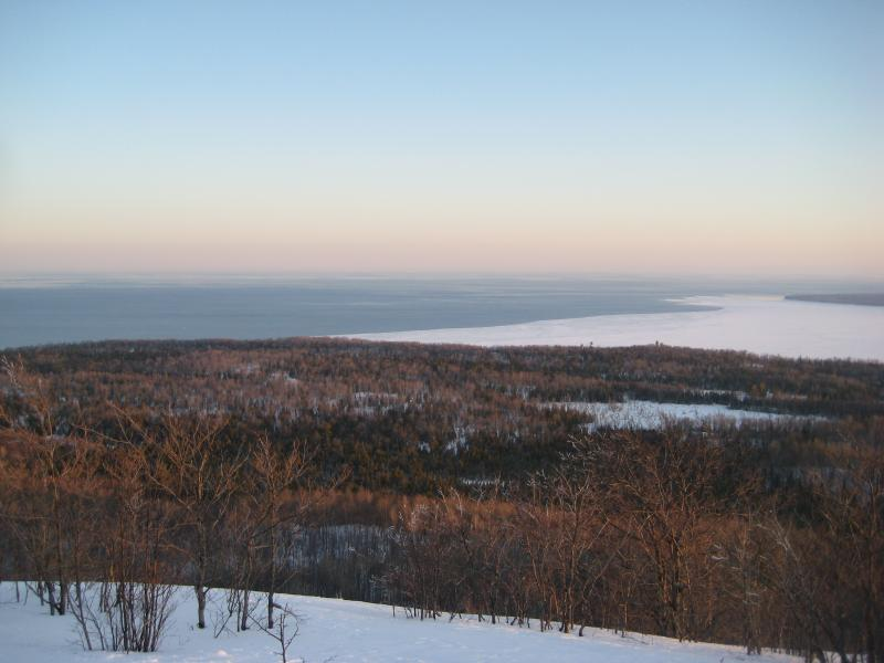 Looking down to Lake Superior