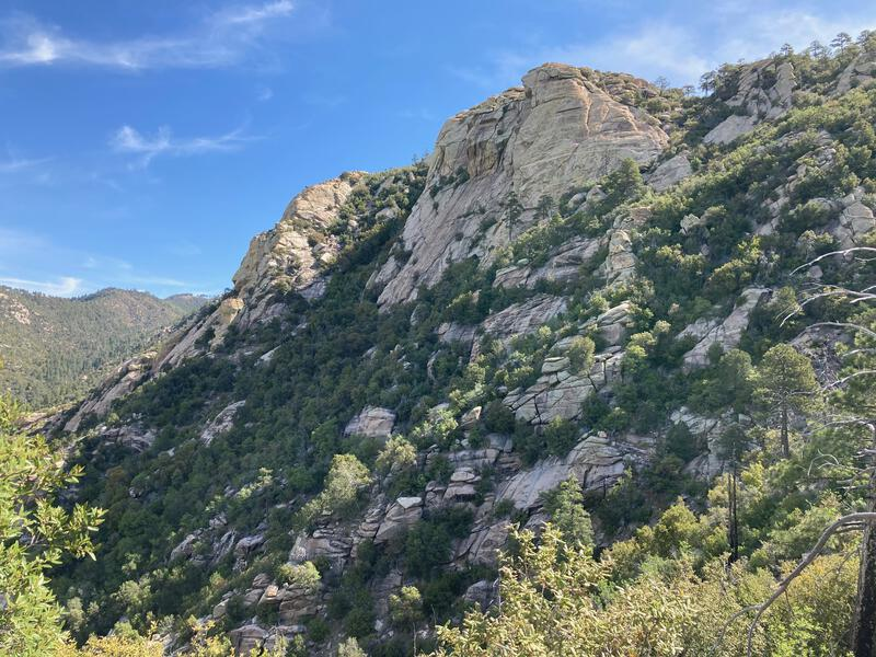Some awesome bluffs along Mount Lemmon Trail