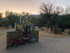 Cool mural at the trailhead
