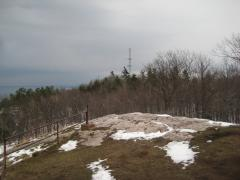Rounded bluff and tower on Mount Marquette