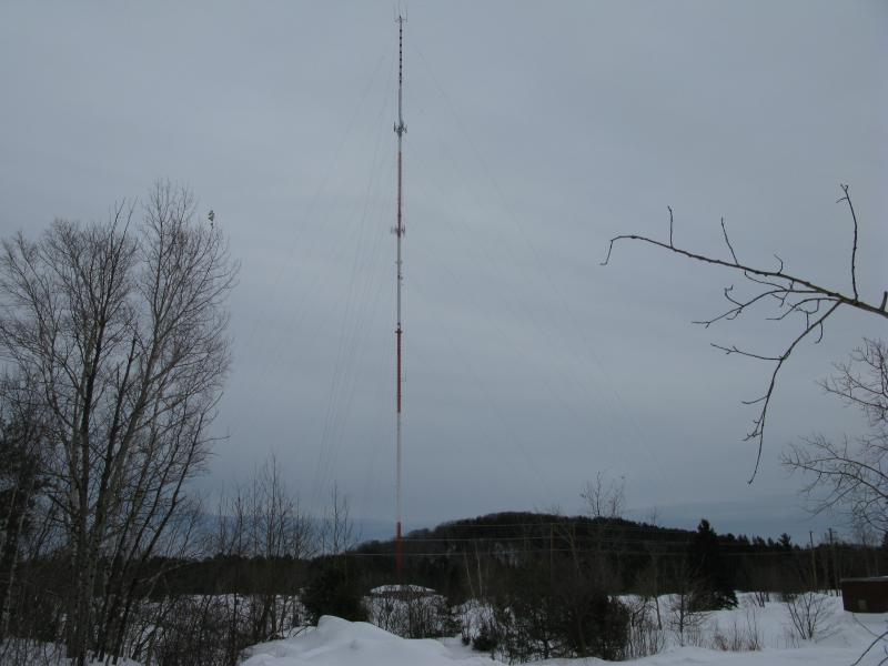 Tall radio tower