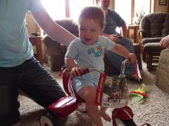 First tricycle ride