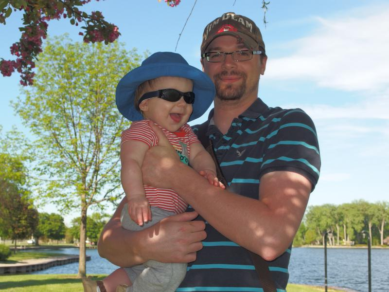 Noah and me down by the lake