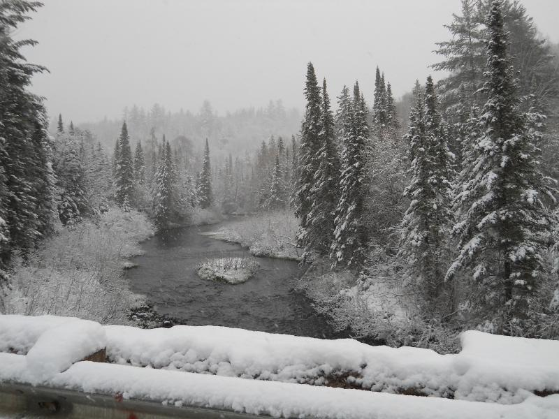 Wintery view of the Peshekee River
