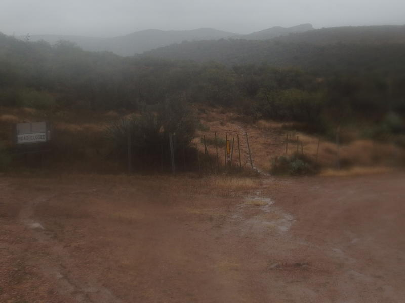 Mud and buckets of rain at the Tortilla Trailhead