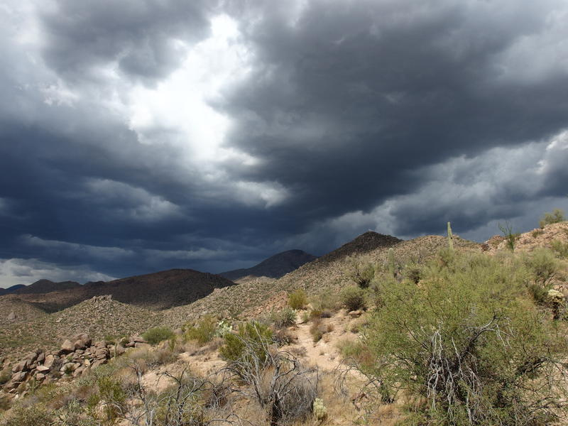 Darker clouds rising over Boulder Mountain