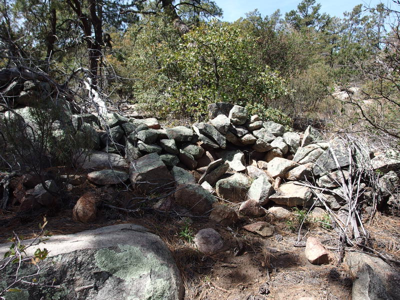 One of the rock walls near the Pine Mountain summit