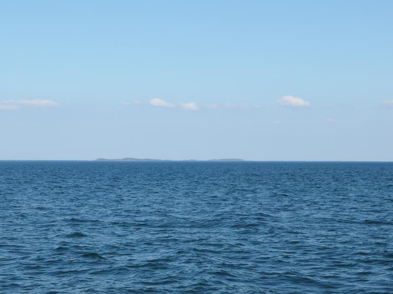 Hazy Huron Islands in the east