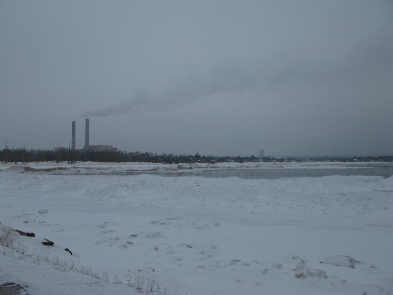 West over Middle Bay to the power plant
