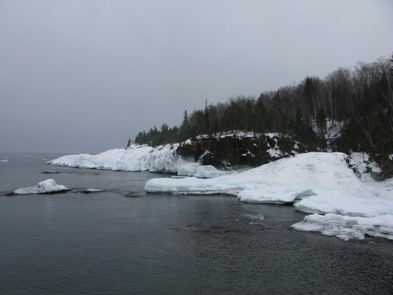 South along the icy shoreline