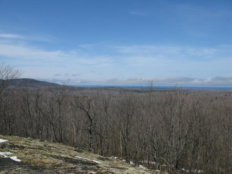 The southern Alder Hill and Lake Superior