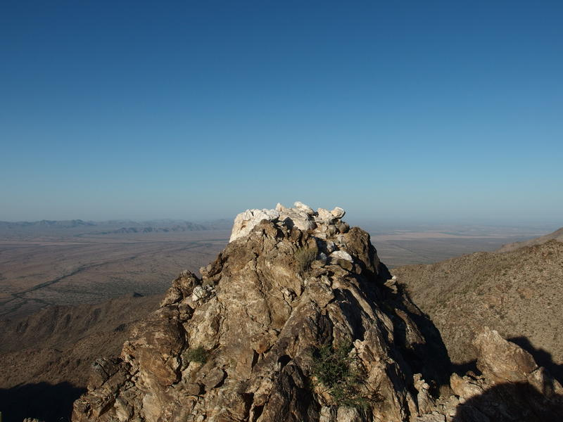 Crown of white on Quartz Peak