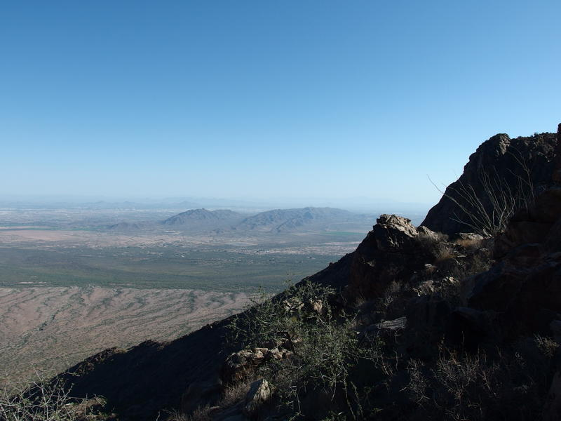 South Mountain and a verdant Gila River valley