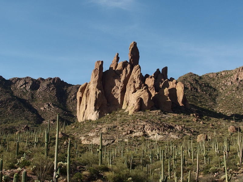 Twisted spires of Cathedral Rock