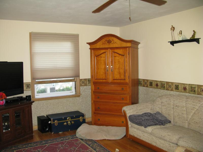 Living room with the huge armoire