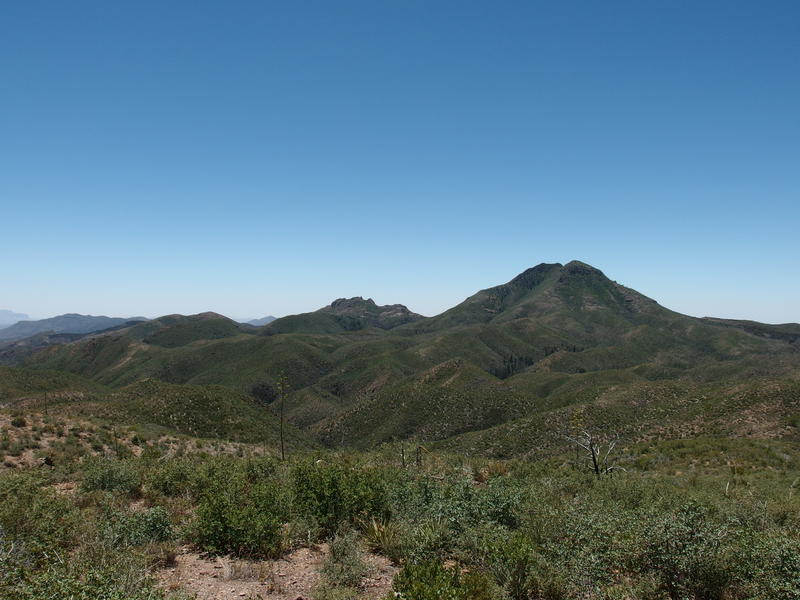 Looking down at the two Saddle Mountains