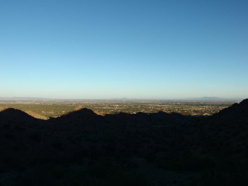 Looking north over Gilbert