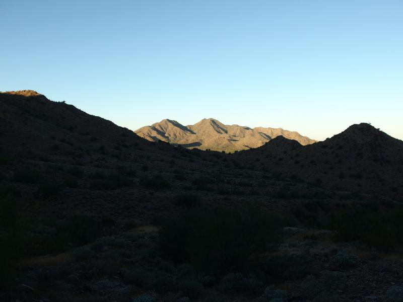 San Tan Mountain to the west