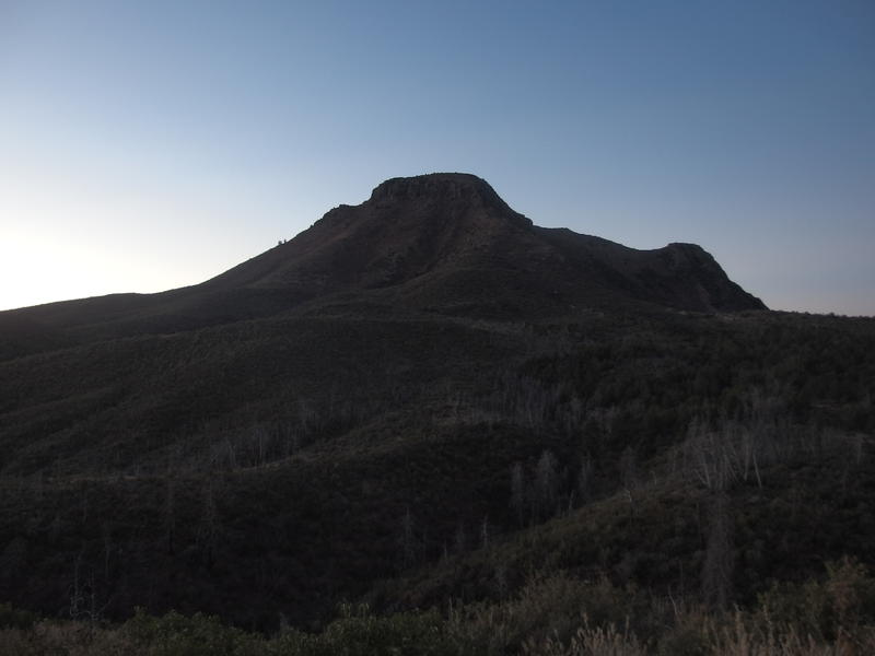 Looking south at Saddle Mountain