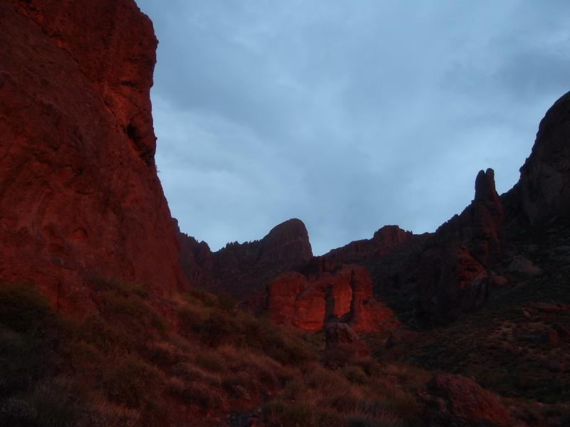 Dim light on the canyon