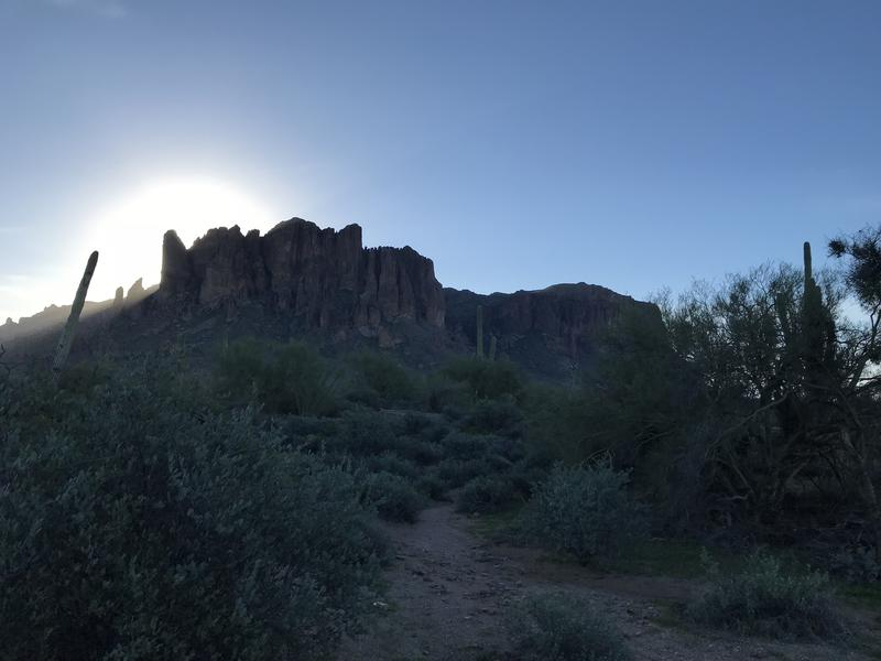 Early morning light on the Superstitions