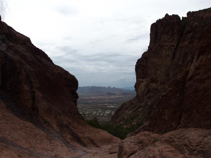 Looking out the bowl to Lost Dutchman