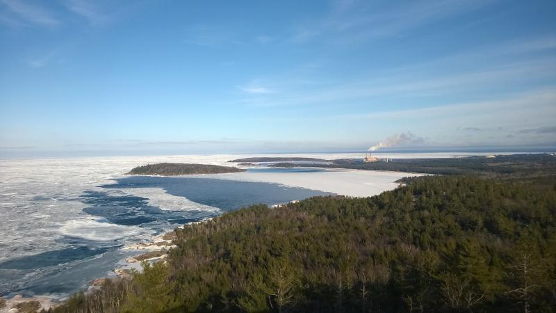 Icy waters near Presque Isle