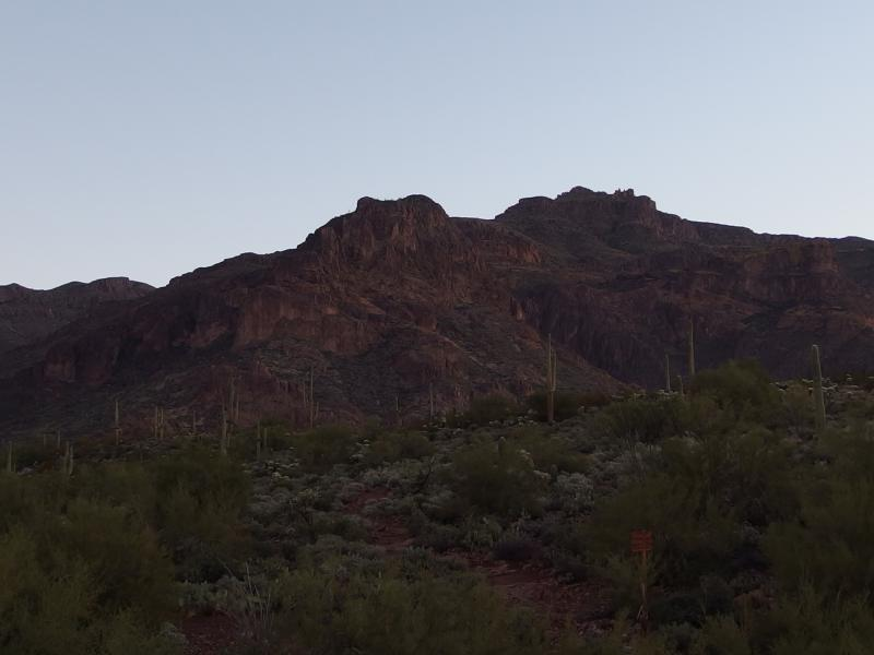Superstition Peak cloaked in darkness