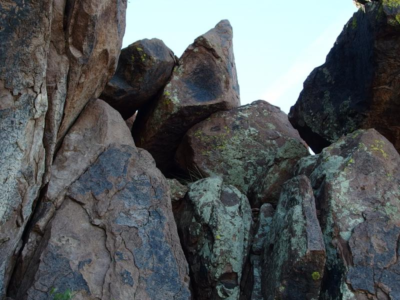 Random cluster of boulders to hobble over