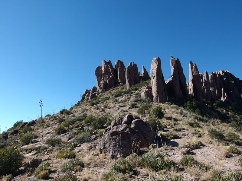 Below the hoodoos of South Peak